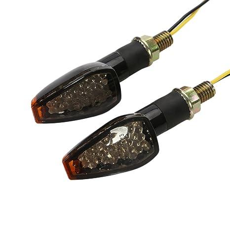 Intermitentes moto, OSAN 2 PC 14 LED Ámbar de Motos Lámparas Luces de Dirección Señales