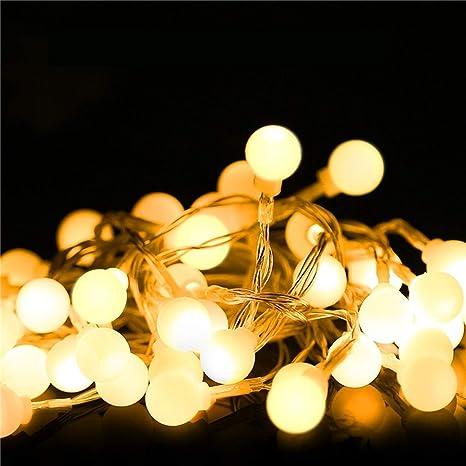 White String Christmas Lights.1 Pack 6ft Warm White 20x Led Night Lights Ball Fairy String