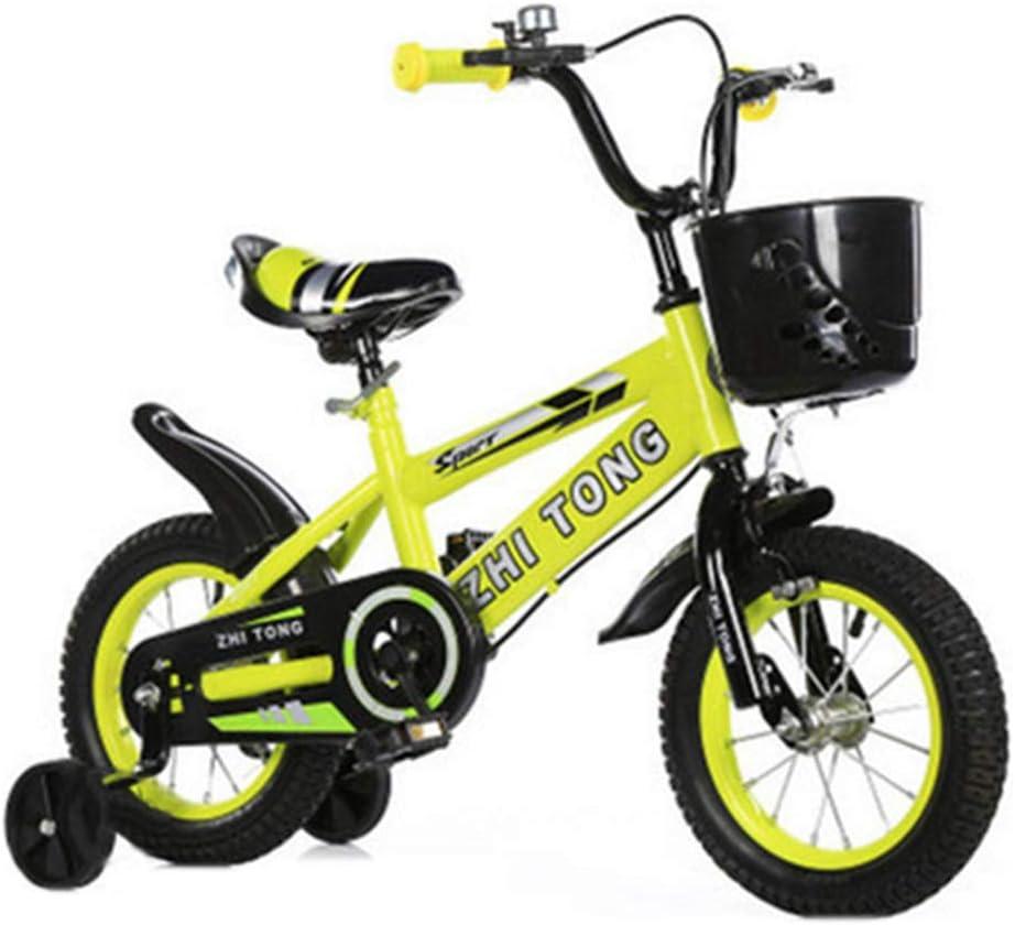 MQYZS Bicicleta Infantil para niños y niñas a Partir de 2-9| Bici 12-14-16-18 Pulgadas con Frenos,Ruedines de Entrenamiento Desmontables