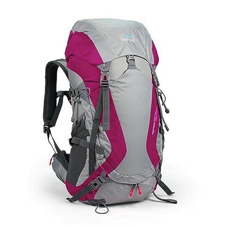 mochilas montaña bolsas mochila de alpinismo 50L suspensión Lesbianas impermeable y respirable montar mochila de viaje