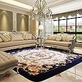WAN SAN QIAN- Creative Coral Villi Rug Economy European Style Living Room Carpet Home Rectangle Carpet Bedside Blanket Carpet Rug ( Size : 185x185cm )