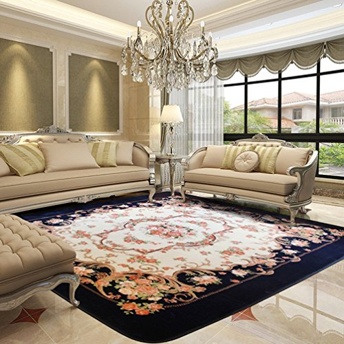 WAN SAN QIAN- Creative Coral Villi Rug Economy European Style Living Room Carpet Home Rectangle Carpet Bedside Blanket Carpet Rug ( Size : 185x185cm ) by Rug