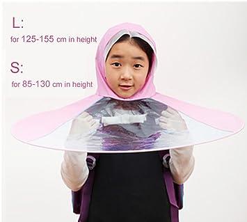 Toim creativo cabeza paraguas, Ultra luz capa de los niños chubasquero transparente plegable lluvia Gear
