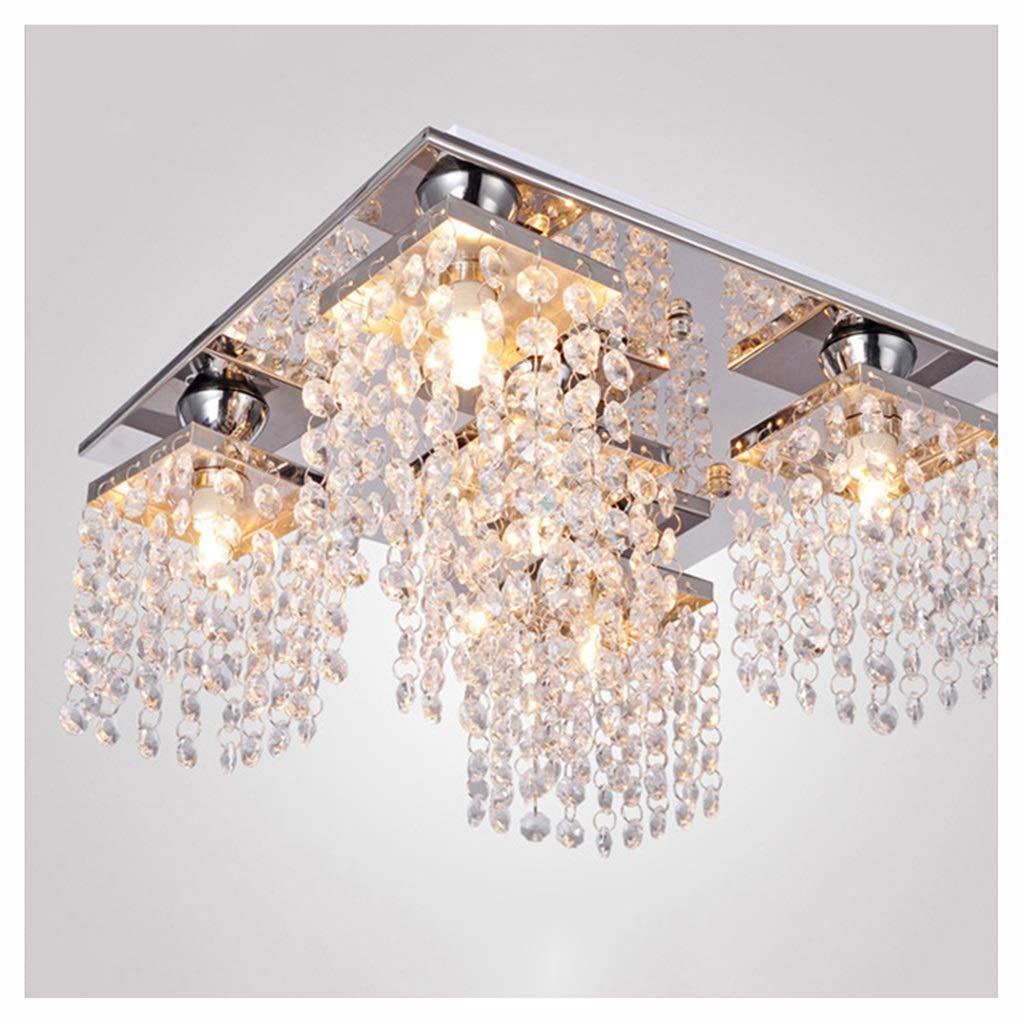 5 Light NIUZIMU Moderne LED Kristall Deckenleuchte Wohnzimmer Kronleuchter Dekorative Leuchte Schlafzimmer Gang Restaurant Wohnzimmer Deckenleuchter Innenbeleuchtung (Farbe   1 Light)