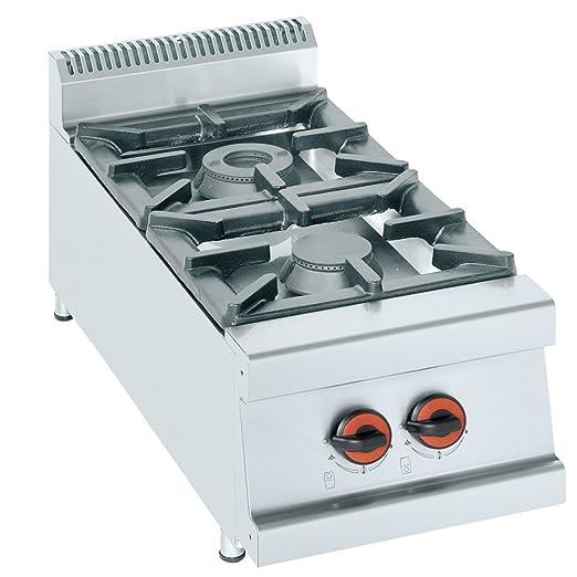 Macfrin H2S Cocina de Sobremesa a Gas 2 Fuegos 15.5 Kw ...