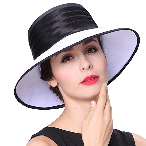 988c67a54 June's young Women Hat Formal Dress Hat Polyester Fabric Feather Ascot Race  Derby Hat Wedding