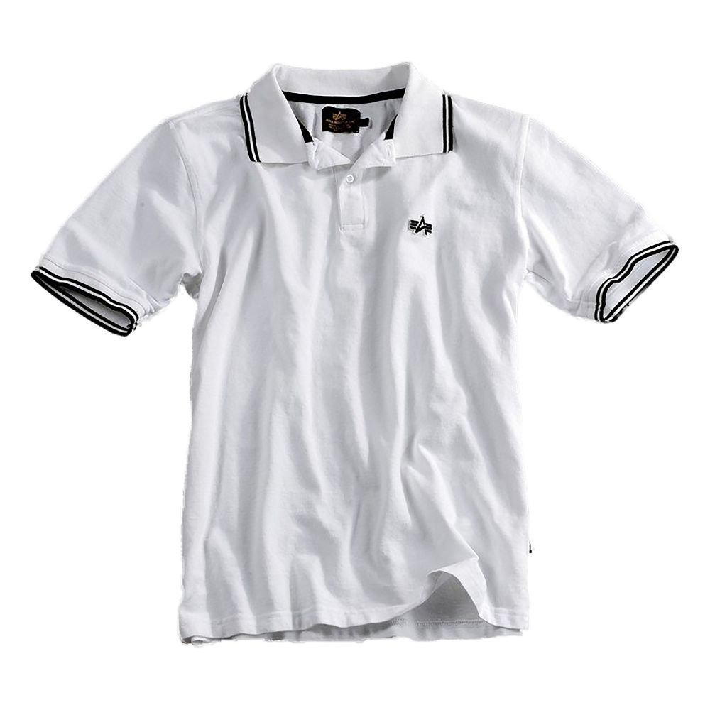 Alpha Industries - Polo - para Hombre Blanco/Negro L: Amazon.es ...