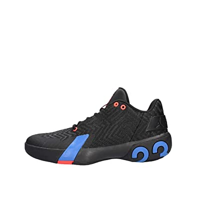 15cf30e74c57f0 Nike Men s Jordan Ultra Fly 3 Low Basketball Shoes Multicolour  (Black Pacific Blue