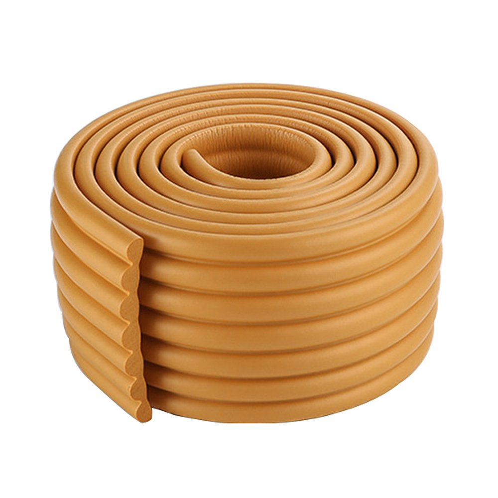 2x2m//13ft Khaki Widened W-Shape Cabinet Edge Cushion Baby Table Edge Protector Trim Environmental NBR
