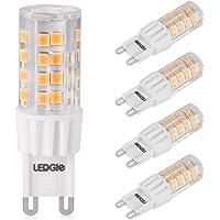 LEDGLE 6W G9 Bombillas LED, Equivalente a Halógeno de 60W, 51 LEDs, 380lm Blanco Cálido 3000K, Sin Parpadeo, No…