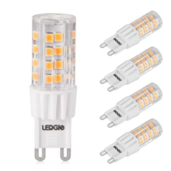 LEDGLE G9 Bombillas LED de 6W No Regulable, 51 Chips LED SMD2835, 380lm Blanco