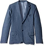 Michael Bastian Men's Cotton Dobby Deconstructed Blazer, Indigo, L