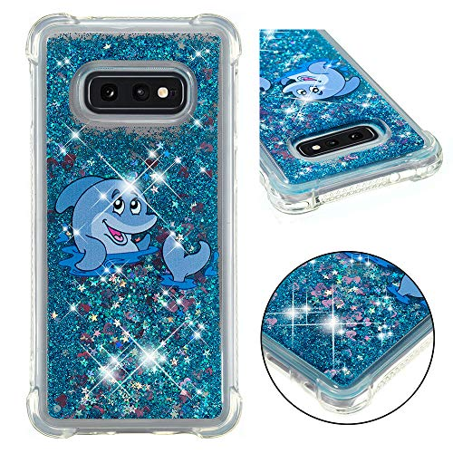 - Galaxy S10E Case, ZERMU Shockproof Cartoon Pattern Durable Waterfall Fusion Moving Liquid Sparkling TPU Bumper Luxury Bling Quicksand Flowing Floating Glitter Cover for Samsung Galaxy S10E 5.8