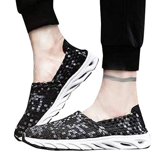 fdb52d1d09154 Amazon.com: 2019 Women's Breathable Comfort Sneakers Hand-Woven ...