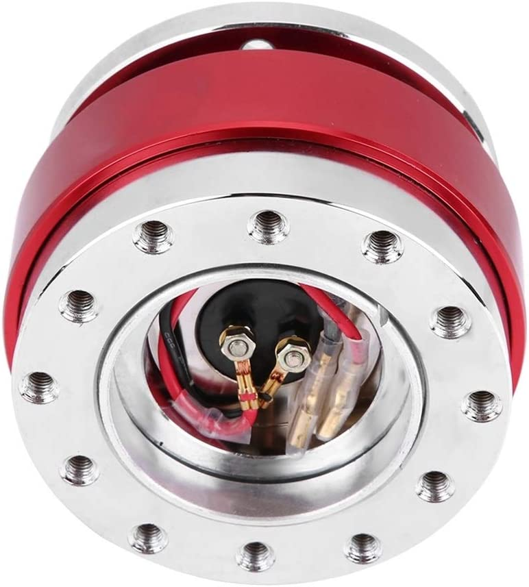 Heitune Universal Steering Wheel Quick Release Hub Adapter Boss Kit For Racing Car Red