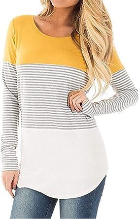 Camisa de Manga Larga Moda de Mujer Blusa Camisa Algodón Shirts ...