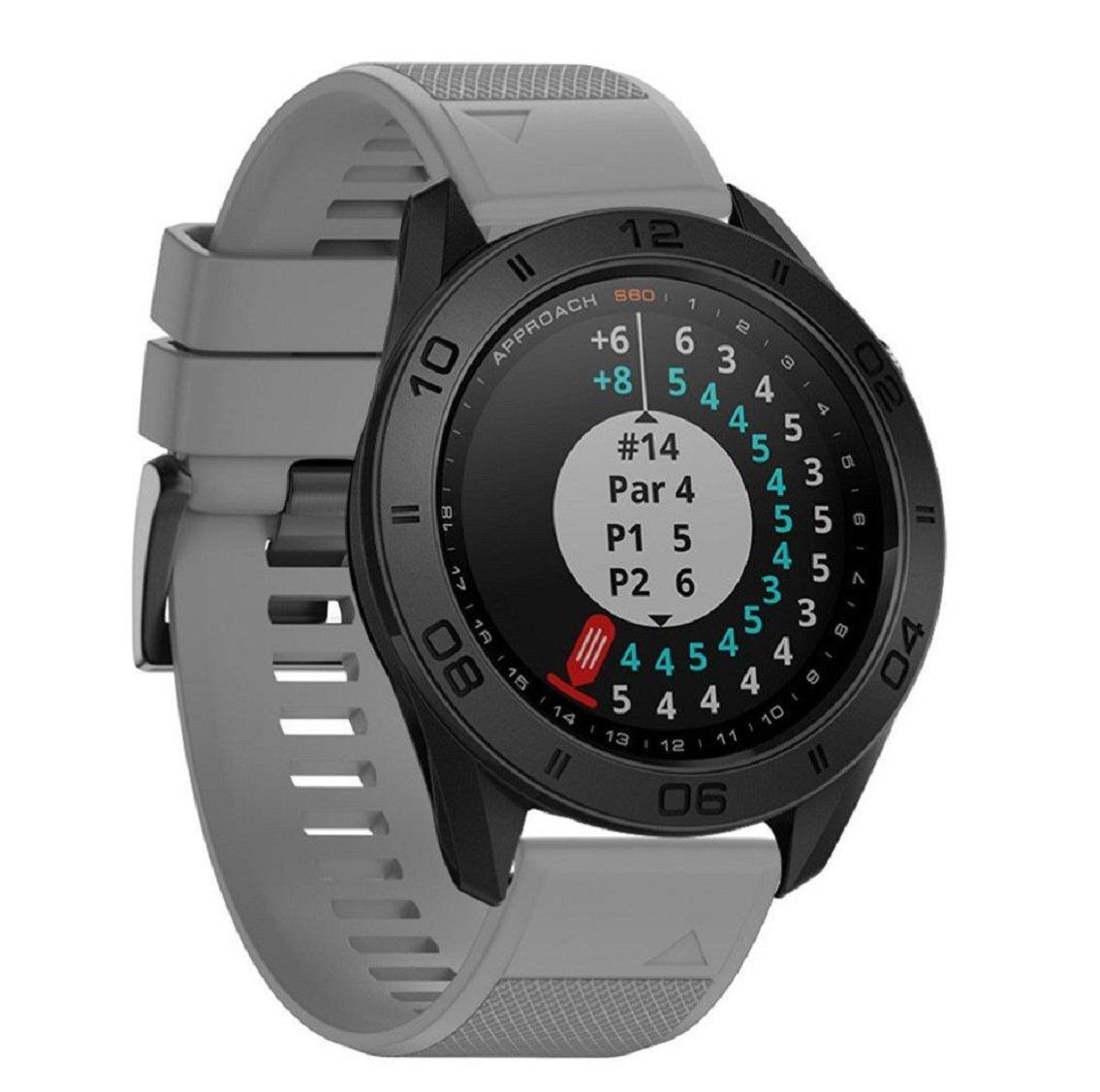 For Garmin Approach s60用時計バンド、vovomayスポーツシリコンストラップ交換用時計バンドGarmin Approach s60 Smartwatch  グレー B076GK4RPJ