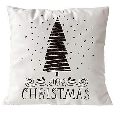 BHYDRY Fundas de almohada Merry Christmas Sofá de lino Funda de cojín Decoración Hogar Núcleo de almohada: Amazon.es: Amazon.es