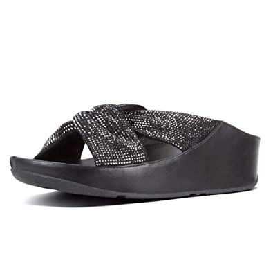 e79f234bb779 FitFlop Women s Twiss Crystal Slide Black 5 ...