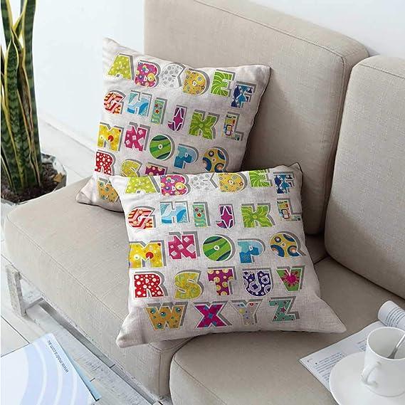 Amazon.com: Letra Y, funda de almohada adorable corazones ...