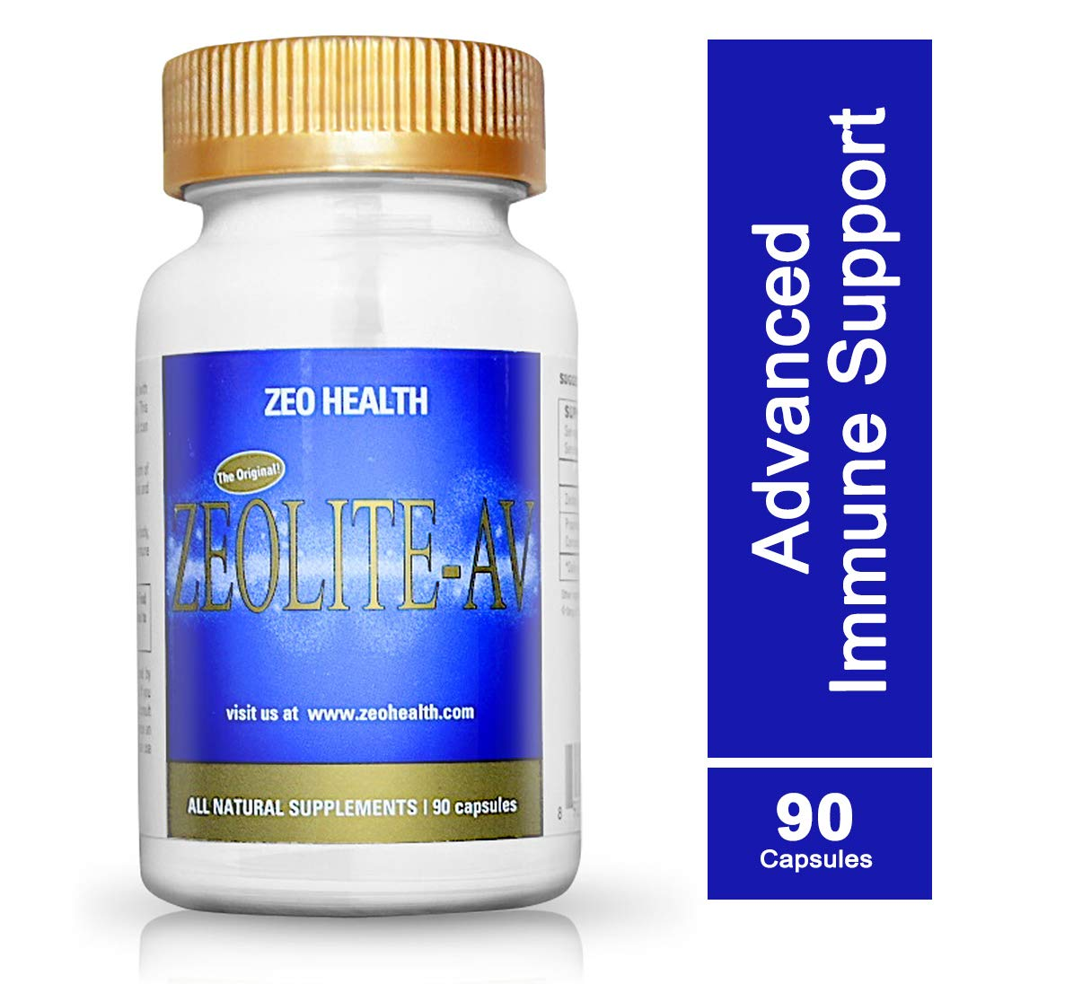 Zeolite AV Capsules Potent Immune System Booster with Humic Acid Restore Trace Minerals, Replenish Electrolytes, Remove Toxins Promotes Energy, Restful Sleep, Alleviates Brain Fog 90 Count