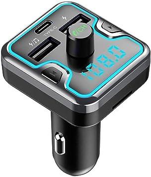 Syloz Auto Bluetooth Transmitter Fm Radio Sender Adapter Car Kit Qc3 0 Auto Ladegerät 12v 24v Unterstützung Dual Usb Ports Angreifen Freisprechfunktion U Scheibe Tf Karten Mp3 Player Auto