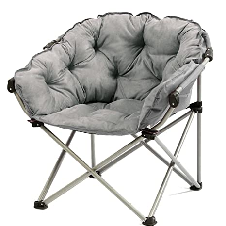Moon Chair Grey -Creative Lazy Suede Fabric Tumbonas ...