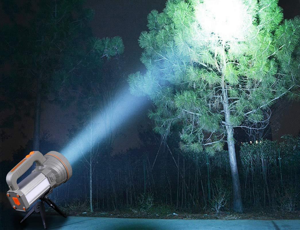AF-WAN Recargable 7000 L/úmenes Potentes linternas LED Linternas para acampar Linterna t/áctica recargable Impermeable Super brillante Proyector Reflector de mano