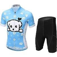 YFCH Cycling Jersey Kids Bike Shirts Boys' Girls' Breathable Short Sleeves Tights Suit Biking Bib Shorts Bicycle short And Pants