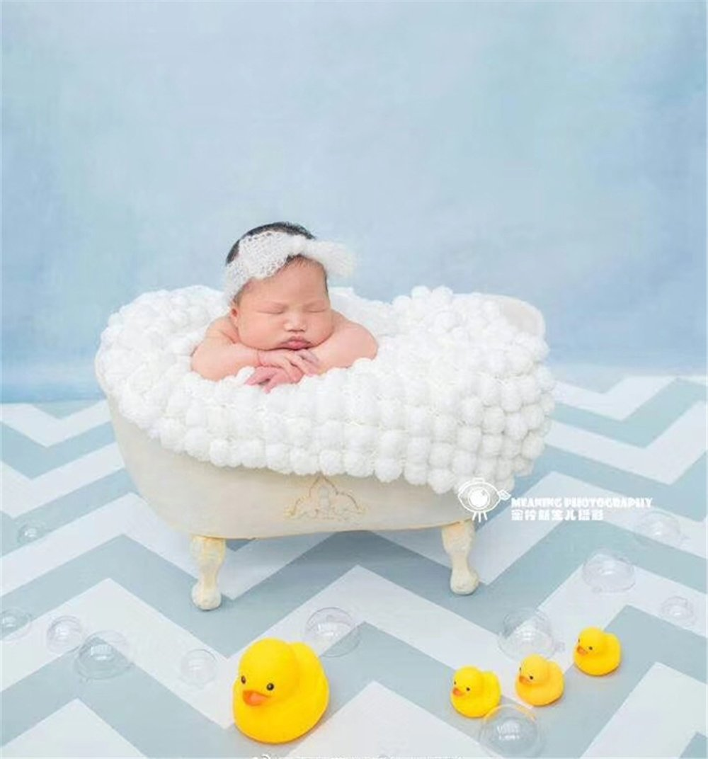 Dvotinst Baby Photography Props for Studio Shoots, Cute and Beautiful Iron Bathtub Posing Props for Newborn Babies by DVOTINST (Image #5)
