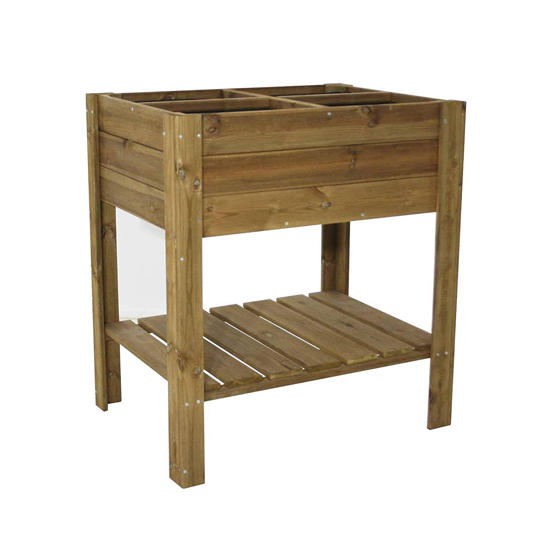 Gardiun KSU13020 - Huerto Urbano madera tratada 80*60*88 cm ...