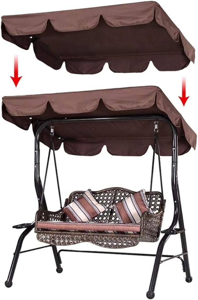 Sixpi 2 Person Patio Swing Cover//Replacement Waterproof Protection Cover//Outdoor Swing Canopy//Replacement Top Cover for Porch Backyard Garden Patio Yard Beige Top Cover Only