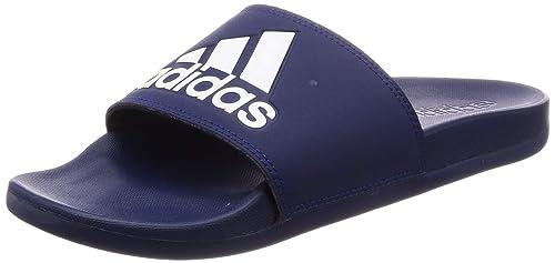 Amazon.com | adidas Men Sandals Adilette Cloudfoam Plus Logo ...