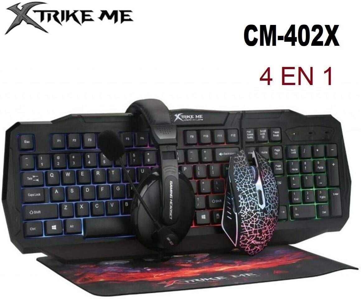 XTRIKE ME Teclado Gaming Raton Cascos Almohadilla en español ...