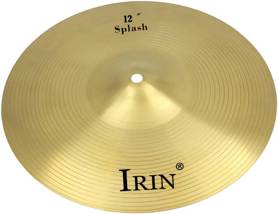 Almencla IRIN Hi-Hat Pour Cymbale Crash En Laiton 12 Pouces Pour Batterie Accessoires Percussions