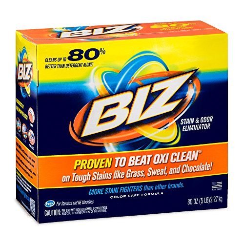 BIZ Stain & Odor Eliminator Laundry Detergent Powder (80 oz.) (Best Laundry Detergent For Sweat Stains)