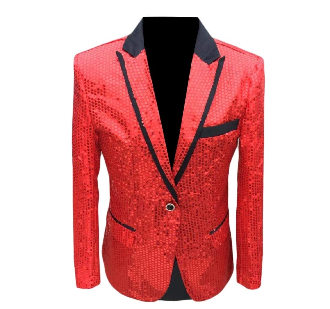 Againg Mens Sequin Wedding Blazer Banquet Shiny Vogue Tuxedo Suits Jacket