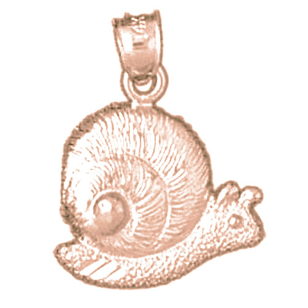 14K Rose Gold-plated 925 Silver Snail Pendant with 18 Necklace Jewels Obsession Snail Necklace