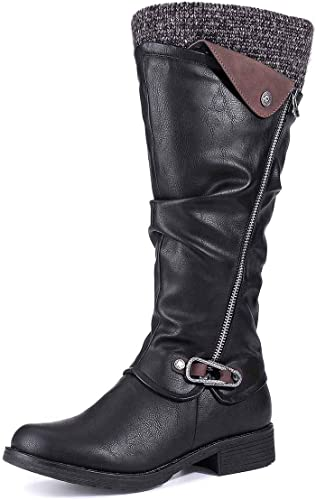 Camfosy Womens Knee High Boots Ladies