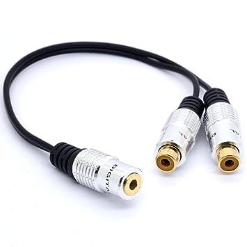 Bañado en oro 3,5 a RCA estéreo cable divisor de Audio 3,5