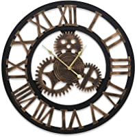 Wall Clock Extra Large 3D Vintage Silent No Ticking Movements Home Office Decor