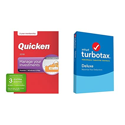 TurboTax Premier + State 2017 with Quicken Premier 2018 27-Month Membership