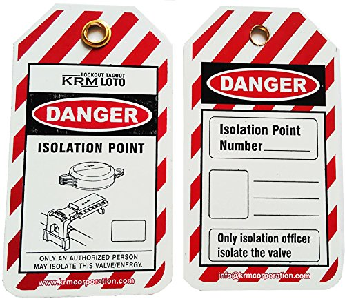 Isolation Tags Lockout - LOCKOUT ISOLATION TAG (SET OF 50 TAGS)