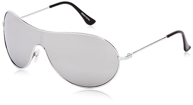 c16f3df913a23e Icon Eyewear Madrid - Lunettes de Soleil - Mixte - Argenté - Taille unique  (Taille