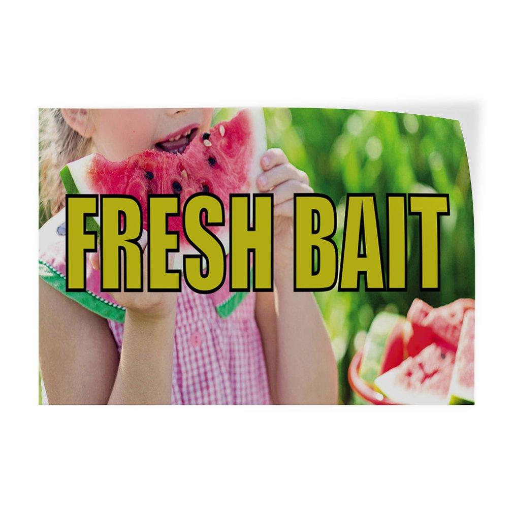 54inx36in Decal Sticker Multiple Sizes Fresh Bait Retail Frssh Bait Outdoor Store Sign White Set of 2