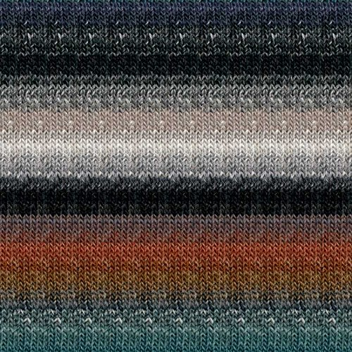 Noro 10 Silk Garden - Noro Silk Garden Lite, 2162 - Ash-Teal-Cooper-Black-Midnight