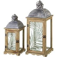 Faroles portavelas de Madera Marrones clásicos para decoración