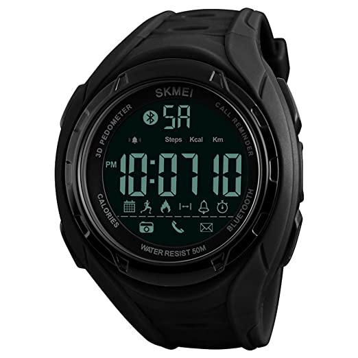 Reloj inteligente Bluetooth Hombres Moda Deportes Relojes Podómetro Calorías Impermeable Digital Relojes de Pulsera para Apple IOS Android: skmei: ...