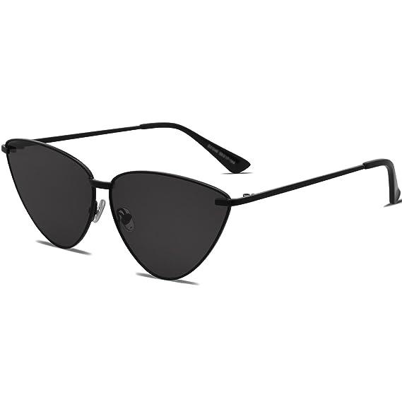 SojoS Lentes De Sol Metal Unisex Hombre Mujer Ojo De Gato Retro Moderno  Gafas SJ1091 Con 60b9ec57eef4