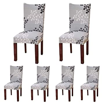 Fine Colorbird Plant Series Spandex Dining Chair Slipcovers Removable Universal Stretch Chair Protective Covers For Dining Room Hotel Banquet Ceremony Bralicious Painted Fabric Chair Ideas Braliciousco